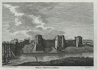 Newport, Wales - Newport Castle in 1784