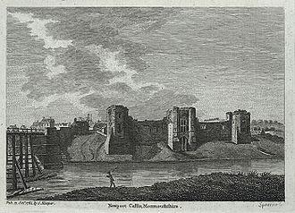 Newport, Wales - Newport Castle in 1784