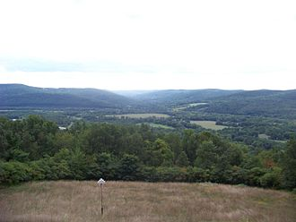 Battle of Newtown - View from the summit of Sullivan Hill, looking into Hoffman Hollow