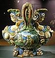 Ngv, maiolica di urbino, bottega di fontana, vaso di dafne e apollo, di salmace e ermafrodito, 1565 circa 04.JPG