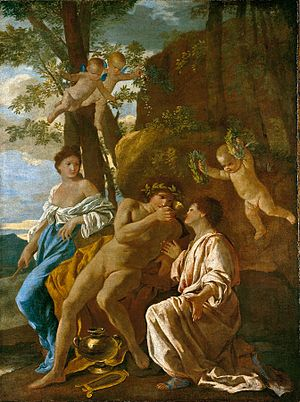 The Inspiration of the Poet - Image: Nicolas Poussin L'Inspiration du poète (Niedersächsisches Landesmuseum)