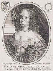 Nicole de Lorraine, Duchess of Lorraine by Moncornet