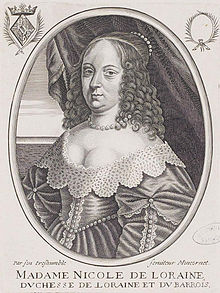 Nicole de Lorraine, Duchess of Lorraine by Moncornet.jpg
