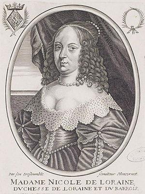 Nicole, Duchess of Lorraine - Image: Nicole de Lorraine, Duchess of Lorraine by Moncornet
