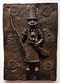 Nigeria, regno del benin, edo, placca con guerriero, xvi-xviii secolo ca.jpg