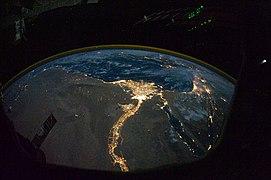 Nile River Delta at Night.JPG