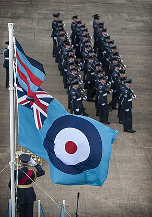 Royal Air Force Ensign - The ensign at RAF Honington