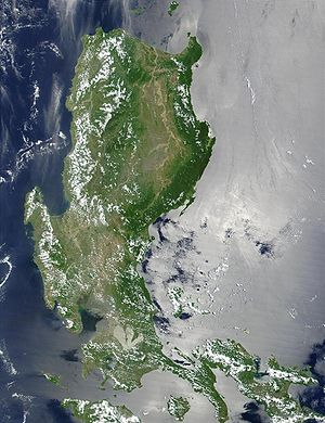 Geography of the Philippines - Luzon in satellite image