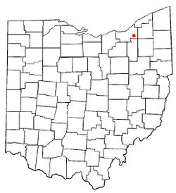 Location of Bedford Heights in Ohio