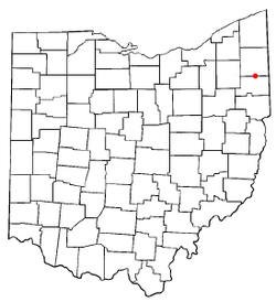 Location of Mineral Ridge, Ohio
