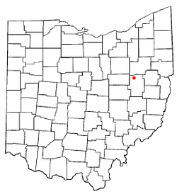 Location of Strasburg, Ohio