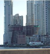 The Trump International Hotel & Tower Panama during construction in 2008.
