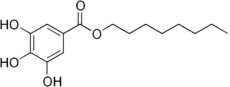 Structural formula of octyl gallate