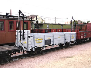 Open wagon - A Class Ow goods wagon on the Saxon narrow gauge railways with Heberlein brakes