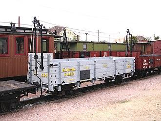 Open wagon - A ClassOw goods wagon on the Saxon narrow gauge railways with Heberlein brakes
