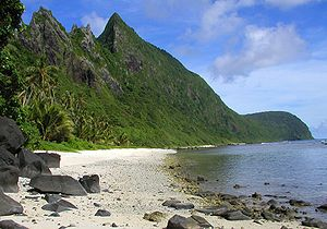 English: Beach at Ofu, American Samoa. Origina...