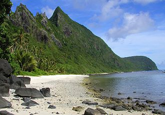 National Park of American Samoa - Beach at Ofu.