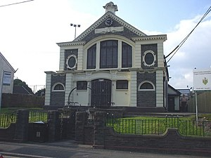 Church Village - Image: Old Carnegie Library, Church Village