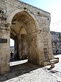 Old Jerusalem Lions Gate seen from inside the ramparts.jpg