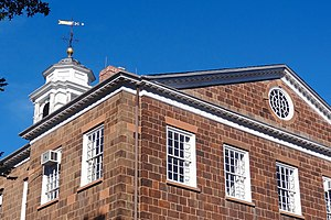 Old Queens, New Brunswick, NJ - cupola and brownstone.jpg