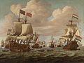 Ontmoeting tussen het Engelse schip Prince en het Nederlandse schip Gouden Leeuw op zee.jpg