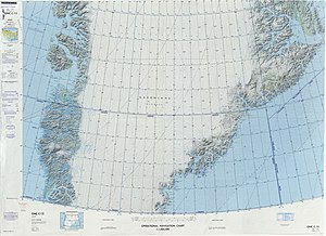 Rigny Bjerg - Defense Mapping Agency map of Greenland sheet.