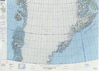 Ejnar Mikkelsen Range - Image: Operational Navigation Chart C 13, 3rd edition