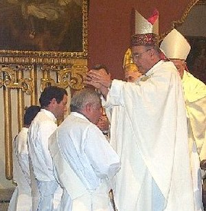 Apostolic succession - Catholic ordination ceremony