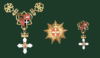 Order of Vytautas the Great - Set of Order with Golden Chain: Golden Chain and Order, Star, Cross (badge)