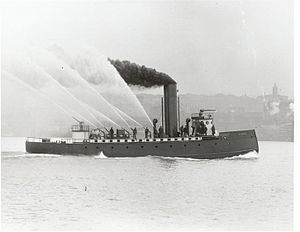 Duwamish (fireboat) - Originally the Seattle fireboat Duwamish was built with a ram bow.