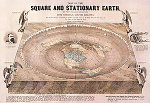Geocentric model - Map of the Square and Stationary Earth, by Orlando Ferguson (1893)