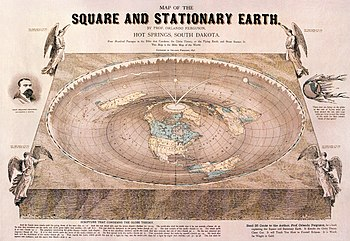 Map of a flat earth