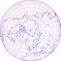 Orthographic projection of northern hemisphere with grid.png