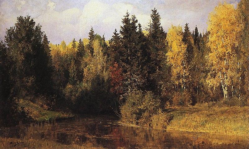 В д поленов осень в абрамцево 1890