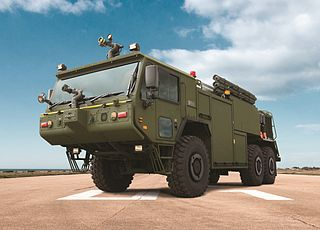 Oshkosh P-19R Aircraft Rescue and Fire Fighting vehicle Type of Aircraft Rescue and Fire Fighting (ARFF) vehicle