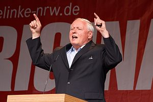 Left-wing populism - Oskar Lafontaine, member of The Left