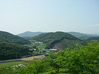 Otsuki Windmill Skyline.JPG