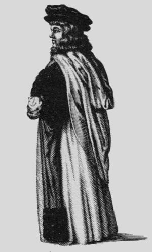 Doctor of Civil Law - An Oxford Doctor of Civil Law, in Convocation dress, from David Loggan's 1675 engraving Oxonia Illustrata.