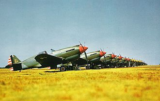 8th Operations Group - P-40s of the 33rd PS, 8th PG, at Langley Field, Va., in 1941.