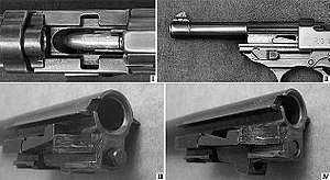 Locked breech - Short Recoil Lock from Walther P38