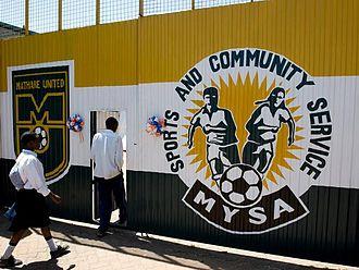 Mathare Football for Hope Centre - Painted MYSA logo