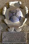 Palazzo dei priori di volterra, interno, stemma alberti di catenaia.JPG
