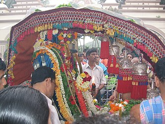 Palkhi at Mahalasa temple, Goa.jpg