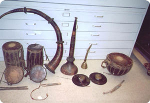 Karnal (instrument) - Nepali karnal (at center)