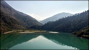 Pandoh Dam - View of Pandoh Lake from Chandigarh-Manali NH-21