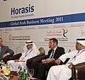Panel with the Arab Business Leaders of the Year, at the 2011 Horasis Global Arab Business Meeting.jpg