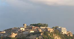 panorama di Rometta all'alba