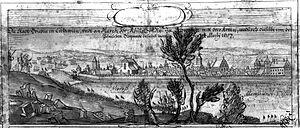 Brześć Kujawski - Erik Dahlberg, Brześć Kujawski. Panorama, 1657 (Original).