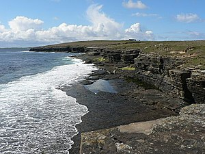 Papa Westray - Low cliffs on the east coast