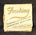 Papel de Arroz Smoking, Miquel y Costas&Misquel SA Barcelona (Cigarette rolling papers) (back).JPG